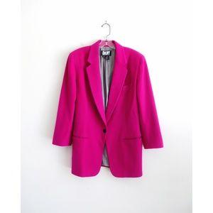Vintage DKNY Fuchsia Pink Wool Cashmere Blazer 8